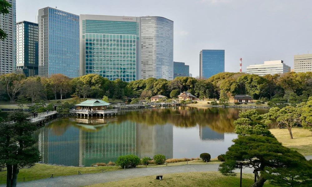 Tokyo giardino hamarikyu